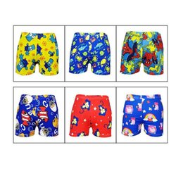baby swim wear wholesale NZ - 1PCS Beach Swimwear Shorts ages 3 to 12 Boys Baby Kid Child Swimming Trunks Swimsuit Summer Swim Wear Cartoon Printed Toddler307