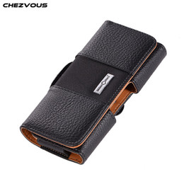 $enCountryForm.capitalKeyWord Australia - CHEZVOUS 3.5~5.7 inch Universal Phone Case Belt Clip Leather Bag Cover for iPhone X 7 8 6 6s Plus 5 4s for Samsung S9 S8 plus