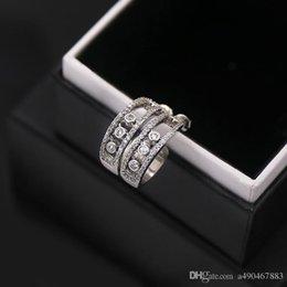 Types Gems Australia - titanium Steel 18K gold plated gem stud earring love exquisite micro C type three grains women Earrings fashion jewelry