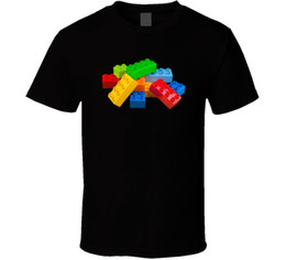 Funny Blocks NZ - Lego Blocks Builders Retro Toys Fan T Shirt Funny free shipping Unisex Tshirt top