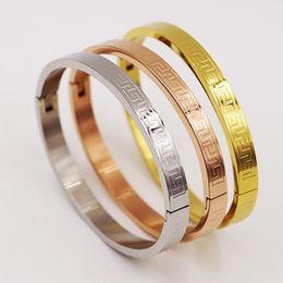 $enCountryForm.capitalKeyWord Australia - Fashion Gold silver rose gold Color Eternity Love Bracelet women Wristband Nail Bangle Screw Lovers Bracelets Bangles