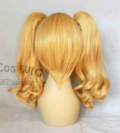 $enCountryForm.capitalKeyWord Australia - shun N1278 Popular New Long Dark Blonde Cosplay Wavy Wig With Two Clip On Ponytails perruque parrucca Cosplay Ladies Fancy Wigs