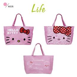 ff80193d9 1PCS Hello Kitty Large Shopping Bag Reusable Canvas Bags Tote Shopper  Grocery Bag Handbag Cloth Fabric bolsa compra F34