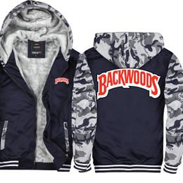 6d115e7acd198 Camouflage Backwoods Cigarrillos Wiz Khalifa Casual Thicken Hooded  Sweatshirts Cotton Zipper Hoodies Winter Cardigan Jacket Coat USA EU Size