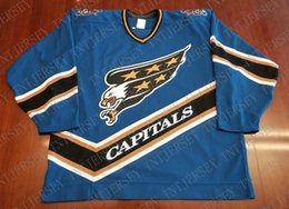 3c660f3eff1 Cheap custom Washington Capitals Vintage CCM Center Ice Jersey Screaming  Eagle Stitched Retro Hockey Jersey Customize any name number XS-5XL