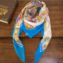 $enCountryForm.capitalKeyWord NZ - Big sale Brand women's square scarf shawl 100% silk material print pattern scarves pashmina for women size: 130cm - 130cm