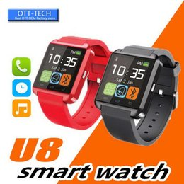 u8 touch screen smart watch Australia - Bluetooth U8 Smartwatch Wrist Watches Touch Screen For iPhone 7 Samsung S8 Android Phone Sleeping Monitor Smart Watch With Retail Package