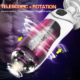 automatic masturbator sex Australia - Full Automatic Piston Telescopic Rotation Male Masturbator Cup Adult Sex Toys Real Vagina Sucking Vibrator Handsfree Sex Machine MX200410