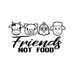 $enCountryForm.capitalKeyWord Australia - Vegan Friends Not Food Cow Chicken Pig Meat Lamb Decal Window Bumper Sticker Car