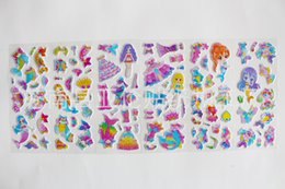 Girl S Toys Australia - 100 sheets lot Cute Puffy Stickers for Girls Mermaid Dress Up Changing Clothes Education Toys