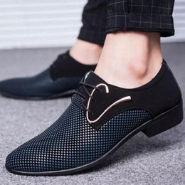 Shoes Fallen NZ - 2019 New arrival Designer Spring fall Men Casual Oxford Shoes Comfortable fashion Men Business Wedding Party Dress Shoes