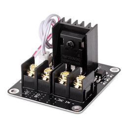 printer board UK - Power Supply Expansion Board with Plug Wire for 3D Printer MOS Tube High Current Load Module Black
