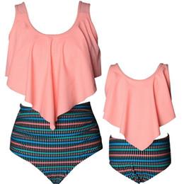 Best Bikini swimsuits online shopping - 2018 new Family Matching Swimsuit Mother Daughter Kid Baby Women Girls Bikini Swimwearing best quality