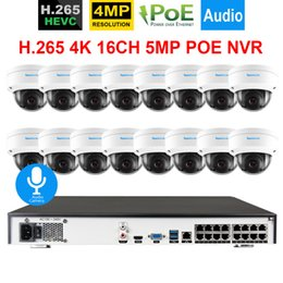 nvr kit recorder 2019 - H.265 4K 16CH 5MP POE NVR Recorder with 16Pcs 4.0MP POE IP Camera kit IP66 Vandalproof Onvif Audio Record Camera System