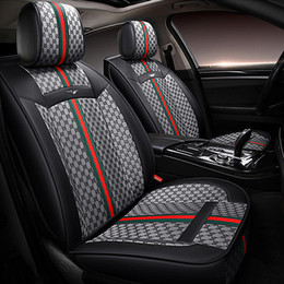 Wholesale Flax fashion stitching leather car seat covers For Audi a3 a4 A4L Q2 Q3 Q5 Universal size Full set new style fit sedan suv gray