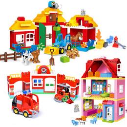 $enCountryForm.capitalKeyWord NZ - Large Size Blocks Sets Girl Princess Family House Bricks Children Assemble Bricks Toys Model Building Blocks Toys For Children MX190731