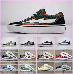 Wholesale 2018 NEW Revenge x Storm Sneakers Pop up Store Top Quality Old  SKool Off Fashion Grid Mens Skateboard Vulcanized Ins Canvas Shoes bd286801e