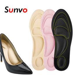 Soft Shoe Insoles Australia - 4D Arch Support Insoles Sponge Soft Massage Orthotic High Heels Shoe Pad for Flat Cushion Insole Women Inserts