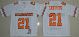 oklahoma state jersey Australia - 1986-1988 Vintage Oklahoma State Barry Sanders College Football Jerseys Cheap Mens 21 Barry Sanders University Football Shirts Orange White