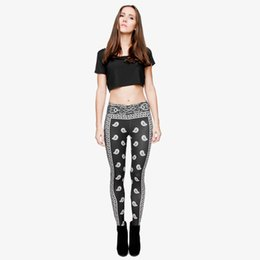 $enCountryForm.capitalKeyWord UK - Girl Leggings Black Bandana 3D Digital Full Printed Skinny Yoga Wear Pants Women Stretchy Pencil Fit Lady Comfortable Pencil Pants (Y29698)