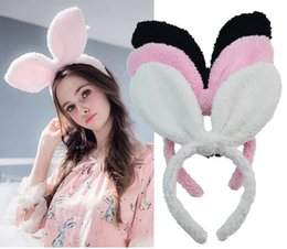 hair designs headband Australia - Cute Bunny Ear Headband Rabbit Ears Design Fluff Hair Bands Hair Hoop Headpiece Photo Props for Easter Party Decoration
