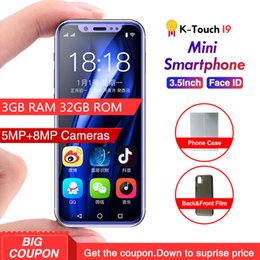 yellow color dual sim phones Australia - Free Case 3GB Ram 32GB Rom Android 8.1 Cell phone 3GB Ram 32GB Rom Mini 4G SmartPhone K-TOUCH I9 Face ID Telefone Dual SIM Mobile Phone