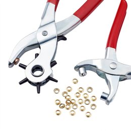 1Set 45# Steel Punch Pliers Tools Sets Eyelet Pliers and Iron Findings Suitable for Leather Punch Red 335x110x25mm on Sale