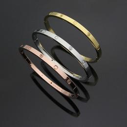 $enCountryForm.capitalKeyWord Australia - Hot Model Love Bracelet 5mm Titanium Narrow Edition Buckle Screw Bracelet Couple Bracelet Male and Female Buckle