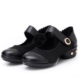 $enCountryForm.capitalKeyWord Australia - Dress Shoes New Style Women Ladies Dancing Rumba High Heels Sandals Women Waltz Prom Ballroom Latin Ballet Ruffles Dance Singles 10