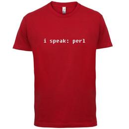 13 Computer Sleeve Australia - I Speak Perl - Mens T-Shirt - Programming   Computers   Code - 13 Colours