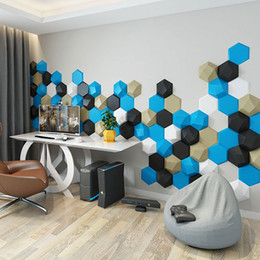 3d panels wallpapers UK - PU PVC Vinyl Wallpapers Self Adhesive Wall Covering Panels modern Minimalist Wallpaper Geometric 3d self-adhesive Wallpaper