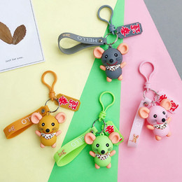 Alloy epoxy online shopping - Creative Cute Cartoon Epoxy Mouse Keychain Korean Version Ins Personality Trend Couple Key Chain Bag Pendant