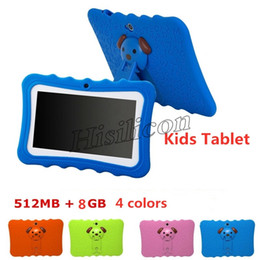 Discount android a33 new - New Kids Tablet PC 7 inch Quad Core children tablet Android 4.4 Allwinner A33 Google Player WiFi big Speaker protective