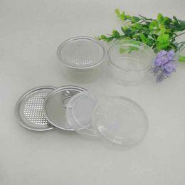 100 ml 67 * 30mm Haustier Plastikglas mit Metalldeckel Container Lebensmittel Kräuter Aufbewahrungsbox Lebensmittel Gläser Transparente Lebensmittelversiegelte Flaschenkanister ZZA2284 im Angebot