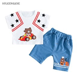 Baby Girl Summer Suits Australia - HYLKIDHUOSE Baby Girls Boys Clothes Suits 2019 Summer Infant Cotton Bear T Shirt Shorts 2 Pcs Child Kids Casual Holiday Clothing