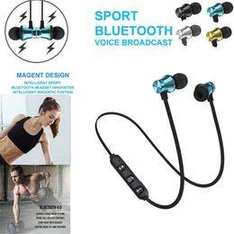 Headset Car Kit Australia - NEW Bluetooth Car Kit Earbuds Headphone Bluetooth 4.2 Stereo Earphone Wireless Magnetic Headset