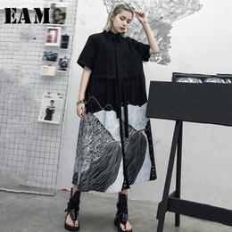 $enCountryForm.capitalKeyWord Australia - [eam] 2019 New Spring Summer Lapel Long Sleeve Hit Color Pattern Printed Loose Big Size Shirt Dress Women Fashion Tide Js187 Y19073001