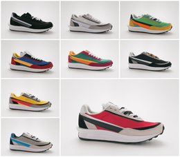 Women s flat leather shoes online shopping - New Sacai LDV Waffle Daybreak Trainers Mens Sneakers For Women fashion designer Breathe Tripe S Sports Running Shoes Size With Box