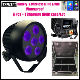 $enCountryForm.capitalKeyWord Australia - New stage lighting stand 6 pes   flycase Phone Control DJ Waterproof Par ip65 Uplight RGBWAUV Battery Powered Wireless DMX Par