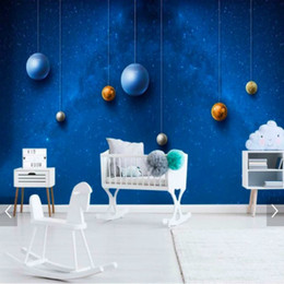 Painting Wallpaper For Kids Australia - Space universe children's room background wall painting mural wallpaper for kids room wall papers home decor wallpaper for living room