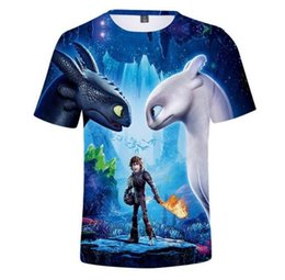 boys casual wear t shirts 2020 - Boy Summer Tops Children T Shirt How to Train Your Dragon Toothless Cartoon T-shirts Kids Cool Street Home Wear Casual V