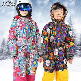 Jumpsuits Suits Australia - SJ-Maurie Snowboarding Jackets Snow Ski Suits Christmas for Kids Waterproof Jumpsuit Girls Boys Snowboard Jacket Overall