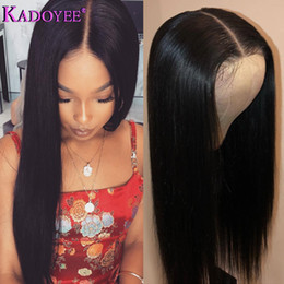 gluless human hair lace wig Australia - 13*6 Lace Front Wig Short Bob Brazilian Remy Human Hair Wigs For Black Women Gluless Wig With Elastic Straps Lace Frontal Wig