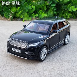 Vehicle lighting online shopping - 1 Scale Diecast Alloy Metal Luxury SUV Car Model For Range Rover Velar Collection Off road Vehicle Model Sound Light Toys Car