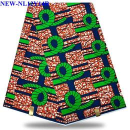 Discount nigerian fabric prints - Hot Selling 100%cotton African Hollandais Wax African Real Dutch Wax Nigerian Lace Fabrics Ankara Cotton Print XY121325