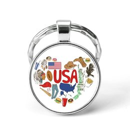 Russia Coin Australia - Style7 Quotes Jewelry Ethnic Style Keychain Russia USA France Italy Finland Indianationality Keyring Glass Cabochon Keyring Keychain