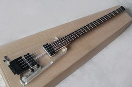 electric guitars headstock 2019 - Free shippingFactory Wholesale Acrylic Glass 4-string Electric Bass Guitar with No Headstock,Rosewood Fingerboard,Offer