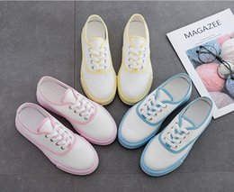Spring Fall Canvas Shoes Australia - Women's canvas shoes 2019 spring and summer new wild flat white shoes students running shoes