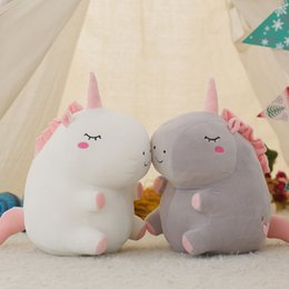 unicorn doll toy UK - 25cm Cute unicorn plush doll toy Stuffed &Plush Animal Baby Toys baby accompany sleep Toys For Children Students Birthday Gifts