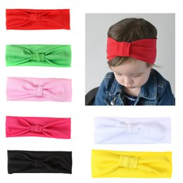 Headband Colored Hair Australia - Baby Headwear Candy-colored Children's Hair Band Knotted Headscarf Baby Stretch Headband
